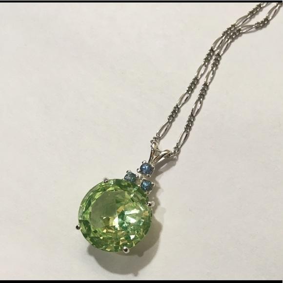 Jewelry sterling silver vaseline glass pendant necklace poshmark m5b52679bcdc7f74851cb1b74 aloadofball Choice Image